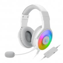 Diadema Gamer Redragon Pandora White H350WRGB, USB, 7.1 Virtual, PC / PS3 / PS4