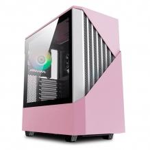 Gabinete Munfrost Panda Pro Pink, E-ATX, Cristal Tempaldo, 2 Ventriladores ARGB