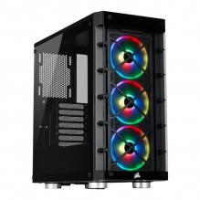 Gabinete Corsair ICUE 465X RGB Negro, Cristal Templado, 3 Ventiladores LL120, ATX - CC-9011188-WW