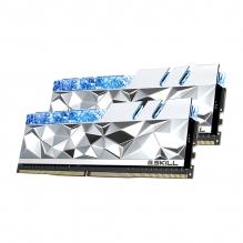 Memoria RAM G. Skill Trident Z Royal Elite Plata 16GB 2X8GB DDR4 4800MHZ CL19-28-28-48 1.50V - F4-4800C19D-16GTESC