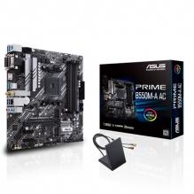 Tarjeta Madre Asus Prime B550M-A AC, Micro ATX, AM4, DDR4 4866Mhz OC, Dual M.2, Wi-Fi, Bluetooth 5.0, Aura Sync