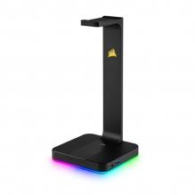 Base para audifonos Corsair ST100 RGB Premium con Sonido Envolvente 7.1 - CA-9011167-NA