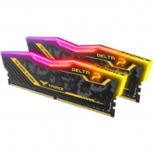 Memoria RAM Teamgroup T-Force Delta TUF Yellow 16GB 2X8GB 3200MHZ - TF9D416G3200HC16CDC01