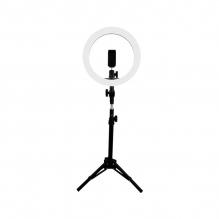 Aro De Luz GameFactor LRG300, 30cm, Streaming, Calido y frio, Ajustable, USB