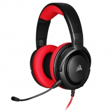 Diadema Corsair HS35 Rojo, Alámbrico, 3.5mm, PC, PS4, Xbox One, Switch, Mobile Devices, Stereo - CA-9011198-EU