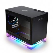 Gabinete In Win A1 Plus Negro RGB, Mini-ITX, Cristal Templado, Fuente 650w 80+ Gold