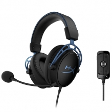 Diadema HyperX Cloud Alpha S Azul, Alámbrico, USB, 3.5mm, PC, PS4, Stereo, 7.1 Surround - HX-HSCAS-BL/WW