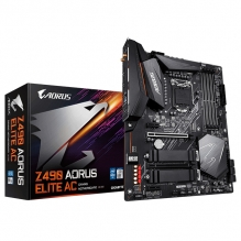 Tarjeta Madre Gigabyte Z490 Aorus Elite AC, 10th Gen. Intel, DDR4 5000Mhz OC, ATX, Doble M.2, Crossfire, SLI, Wi-Fi, Bluetooth