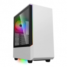 Gabinete Munfrost Panda Blanco RGB, ATX, Cristal Tempaldo, 1 Ventrilador, ARGB