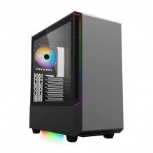 Gabinete Munfrost Panda Negro RGB, ATX, Cristal Tempaldo, 1 Ventrilador, ARGB