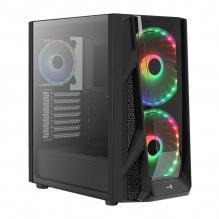 Gabinete Aerocool NightHawk Duo, Negro, Cristal Templado, 3 Ventiladores (2x200mm, 1x120mm) RGB, E-ATX