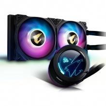 Enfriamiento Liquido Gigabyte Aorus Waterforce X 280, 2 Ventiladores ARGB, 280mm, LCD Display, RGB Fusion 2.0