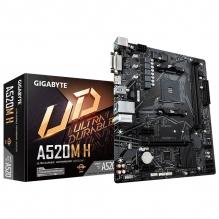 Tarjeta Madre Gigabyte A520M H, Micro ATX, AM4, DDR4 5000Mhz OC, M.2