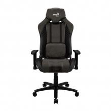 Silla Gamer Aerocool Baron Iron Black, AeroSuede, Reclinable, 4D