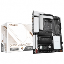 Tarjeta Madre Gigabyte B550 Vision D, ATX, AM4, DDR4 5200Mhz OC, M.2, Wi-Fi, Bluetooth 5, Quad-GPU CrossFire, 2-Way AMD CrossFire