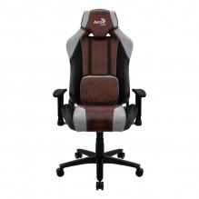 Silla Gamer Aerocool Baron Burgundy Red, AeroSuede, Reclinable, 4D - 4710562751185