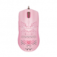 Mouse GameFactor MOG601, Alámbrico, RGB, 16,000 DPI, PIXART 3389, 7 Botones, Ultralight, Rosa
