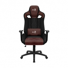 Silla Gamer Aerocool Earl Burgundy Red, AeroSuede, Reclinable, 4D