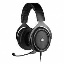 Diadema Corsair HS50 PRO Stereo Carbon, Alámbrico, 3.5mm, PC, PS4, Xbox One, Switch, Mobile Devices