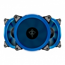 Ventiladores Yeyian Typhoon Led Azul, 3x120mm - YCT-050720B