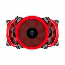 Ventiladores Yeyian Typhoon Led Rojo, 3x120mm - YCT-050720B