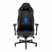 Silla Gamer Corsair T2 ROAD WARRIOR Gaming Chair — Black/Blue, Reclinable, 4D —  CF-9010009-WW