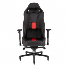 Silla Gamer Corsair T2 ROAD WARRIOR Gaming Chair — Black/Red, Reclinable, 4D —  CF-9010008-WW