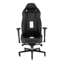 Silla Gamer Corsair T2 ROAD WARRIOR Gaming Chair — Black/White, Reclinable, 4D — CF-9010007-WW