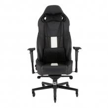 Silla Gamer Corsair T2 ROAD WARRIOR Gaming Chair — Black/White, Reclinable, 4D — CF-9010007-WW