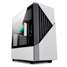 Gabinete Munfrost Panda Pro White, E-ATX, Cristal Tempaldo, 2 Ventriladores ARGB