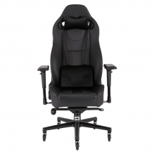 Silla Gamer Corsair T2 ROAD WARRIOR Gaming Chair — Black/Black, Reclinable, 4D — CF-9010006-WW