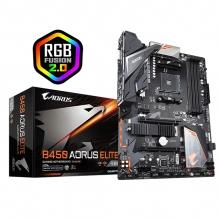 Tarjeta Madre Gigabyte B450 Aorus Elite, ATX, AM4, DDR4 3600Mhz OC, Dual M.2, Crossfire