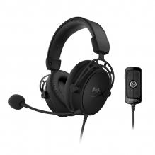 Diadema HyperX Cloud Alpha S Blackout, Alámbrico, USB, 3.5mm, PC, PS4, Stereo, 7.1 Surround, HX-HSCAS-BK/WW