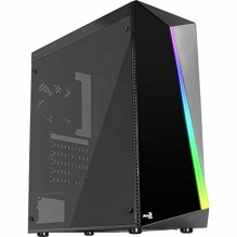 Gabinete Aerocool Shard RGB, Negro, Cristal Templado, ATX