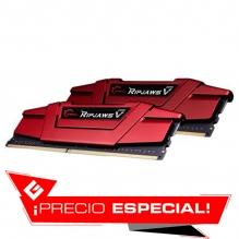 Memoria RAM G.Skill Ripjaws V 32GB 2X16GB DDR4 3600MHZ Roja - F4-3600C19D-32GVRB