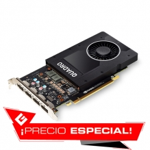Tarjeta de video Nvidia PNY Quadro P2200 5GB GDDR5X - VCQP2200-SB - Precio Especial - (Venta exclusiva por transferencia electrónica o depósito bancario)