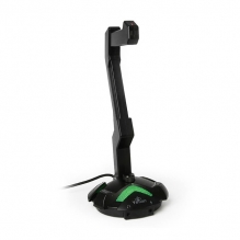 Base para audífonos Yeyian Serie 1000, Micrófono, USB, Iluminación RGB, Jack de Audio, Control de Volumen, YAO-29201N