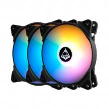 Ventiladores Munfrost Solar Wind Rainbowforce KIT FN-12 RGB, 120mm, ARGB