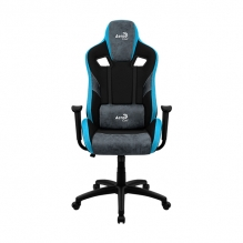 Silla Gamer Aerocool Count Steel Blue, AeroSuede, Reclinable, 4D