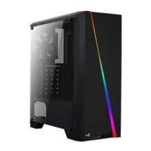 Gabinete Aerocool Cylon RGB, Negro, Panel de Acrilico, ATX