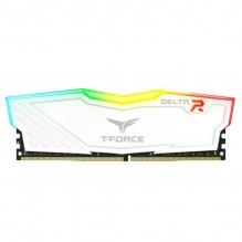 Memoria RAM Teamgroup T-Force Delta RGB 8GB 1X8GB 3200MHZ Blanca - TF4D48G3200HC16C01