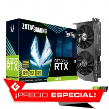 Tarjeta de video Nvidia Zotac Gaming Geforce RTX 3060 Twin Edge, 12GB GDDR6, - ZT-A30600E-10M - (Venta exclusiva por transferencia electrónica o depósito bancario)