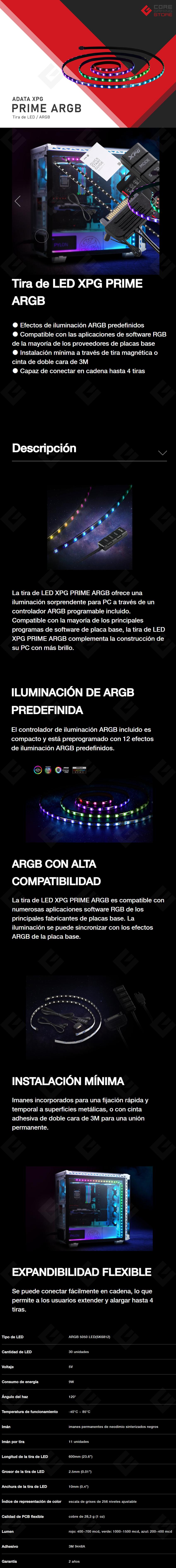Tira LED Adata XPG Prime ARGB