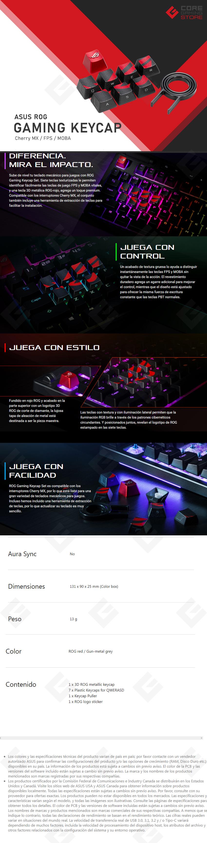 Asus ROG Gaming Keycaps Set / FPS & MOBA