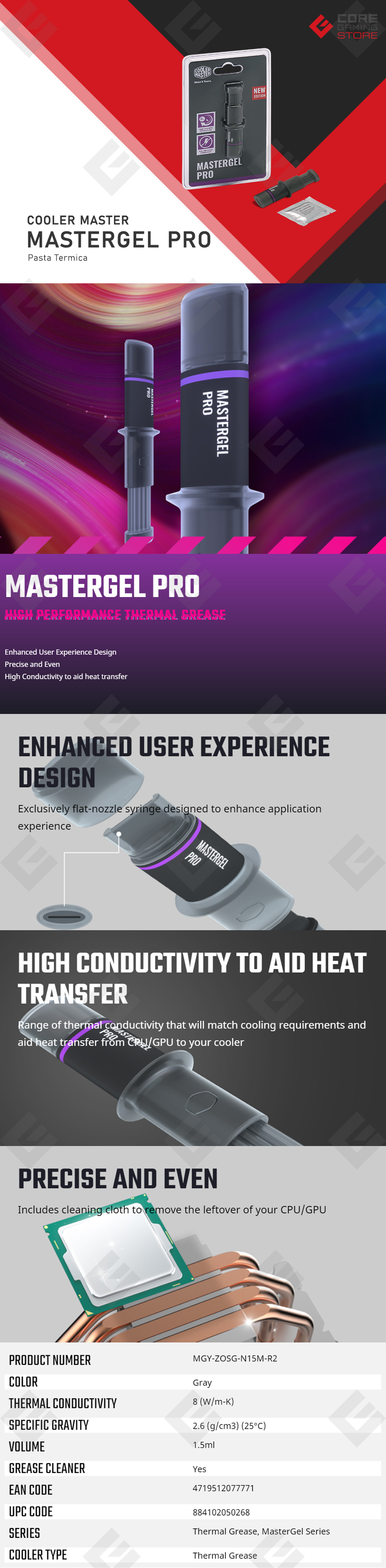 Pasta Termica Cooler Master MasterGel Pro - MGY-ZOSG-N15M-R2