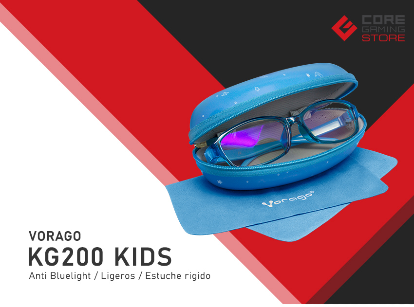Lentes para PC GameFactor KG200 Azul, Anti Blue Light, Ligeros, Estuche - KG200-BL