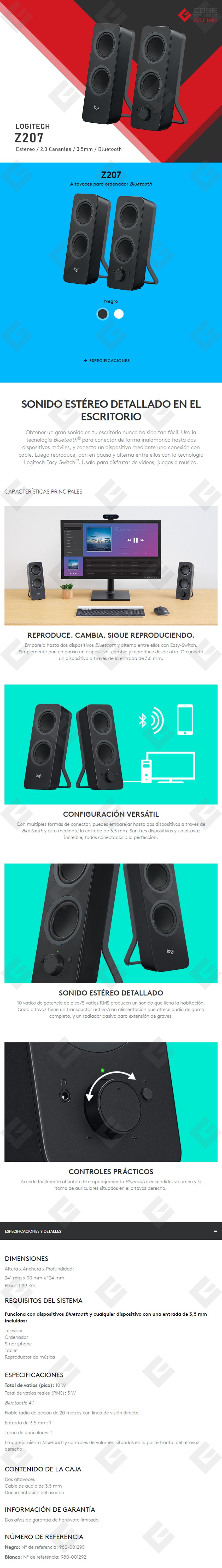 Bocinas Logitech Z207 - 2.0 Canales - 980-001294