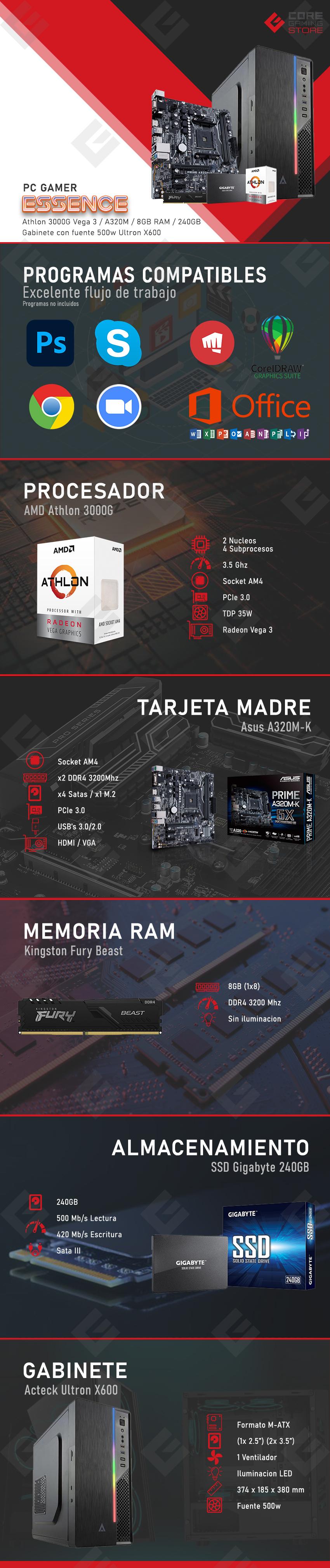 PC Gamer Essence AMD