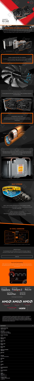 Tarjeta de Video AMD Gigabyte Radeon RX 580 8 GB GDDR5 (Rev.2.0)